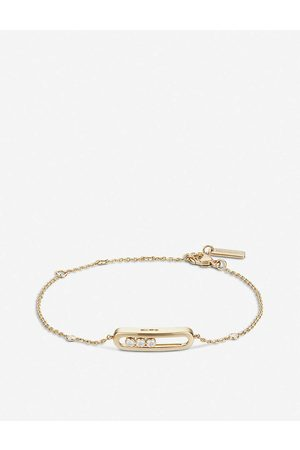 MESSIKA Womens Baby Move 18ct Gold and Diamond Bracelet
