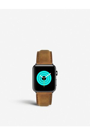 Mintapple Mens Apple Watch Matte Coated Stainless Steel and Suede Strap 38mm/40mm