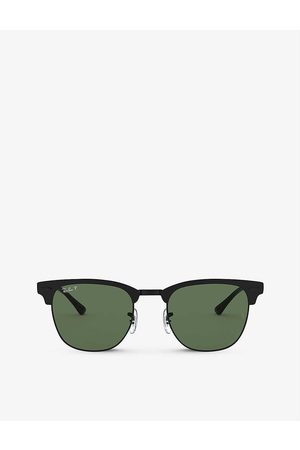 Ray-Ban Mens RB3716 Clubmaster Metal Square Sunglasses