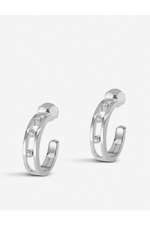 MESSIKA Womens Move 18ct -gold and Diamond Hoop Earrings