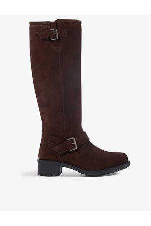 Bertie Womens Dark -waxed Suede Trust Suede Knee-high Boots EUR 36 / 3 UK Women