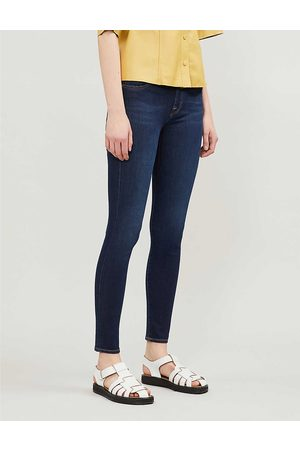 7 for all Mankind Women's Rinse Indigo Bair Super-Skinny Mid-Rise Jeans