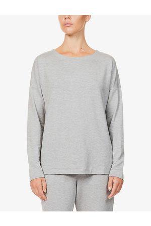 Hanro Womens Balance Melange Balance Stretch-jersey Long Sleeve T-shirt XS