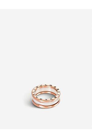Bvlgari B.zero1 two-band 18kt pink- and ceramic ring