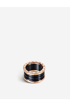Bvlgari B.zero1 18kt pink- and ceramic ring