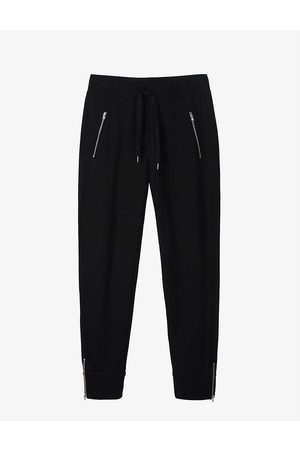 The White Company Womens Zip-detail Stretch-cotton Jogging Bottoms 10