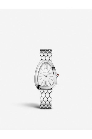 Bvlgari Womens 103141 Serpenti Tubogas Stainless Steel and Opaline Watch