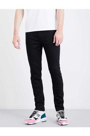 Nudie Jeans Mens Everblack Lean Dean Slim-fit Tapered Jeans 28/32