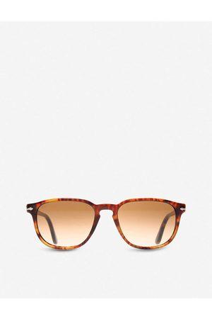 Persol Mens Spotted Havana Suprema Tortoiseshell Round-Frame Sunglasses