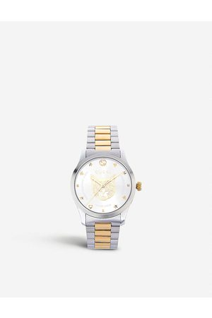 Gucci Womens and YA1264074 G-Timeless Stainless Steel and -plated Watch