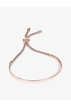 Monica Vinader Women's Rose Cord Fiji 18ct Gold-Plated Friendship Bracelet