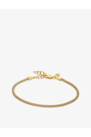 Monica Vinader Womens Doina 18ct Yellow- Vermeil Sterling Silver Bracelet 1 Size