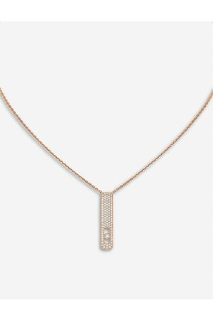 MESSIKA Womens My First Diamond 18ct Rose- and Diamond Necklace