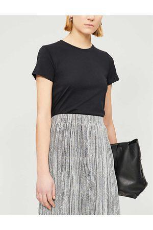 Vince Womens Essential Round-neck Pima Cotton T-shirt XS