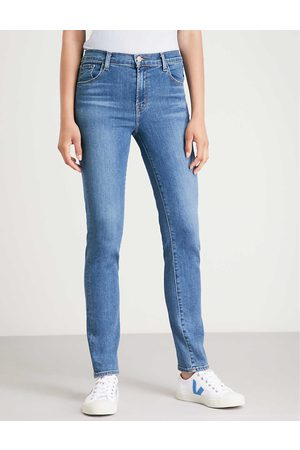 J Brand Ladies Cotton Ruby High-Rise Cigarette Jeans