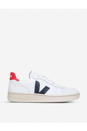 Veja Mens / Brand-embellished Leather Low-top Trainers 5