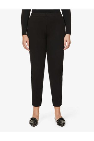 Max Mara Womens Pegno Straight High-rise Stretch-jersey Trousers 2