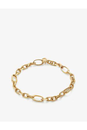 Monica Vinader Womens Alta Capture 18ct -vermeil Sterling Silver Charm Bracelet 1 Size
