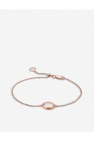 Monica Vinader Womens Siren Rose Gold-plated Vermeil and Rose Quartz Bracelet 1 Size