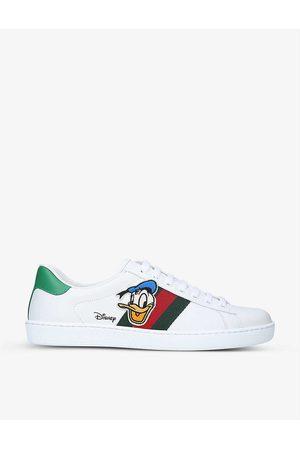 Gucci Mens Men's x Disney Donald Duck New Ace Leather Trainers EUR 41 / 7 UK MEN
