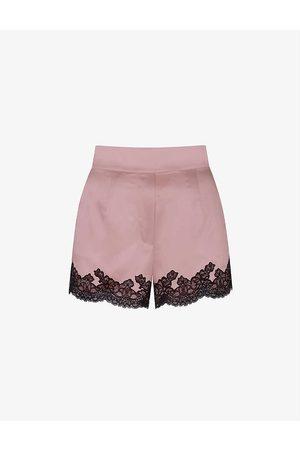 Agent Provocateur Womens Amelea Stretch-silk Pyjama Shorts M