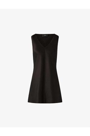 Joseph Womens Belva V-neck Silk-satin Blouse 6
