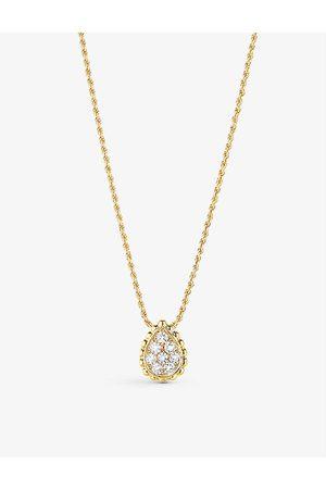 Boucheron Women Necklaces - Womens XS Serpent Bohème 18ct Yellow- and 0.13ct Diamond Pendant Necklace