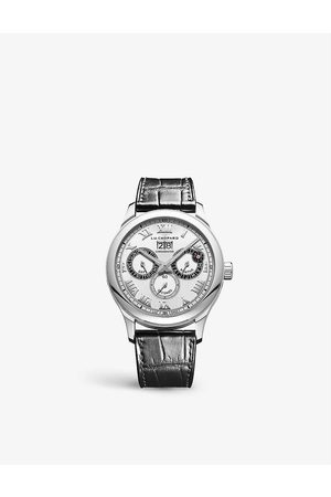 Chopard Mens Rose 168561-3001 L.U.C Perpetual Twin Stainless-steel and Alligator-embossed Leather Automatic Watch