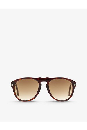 Persol Mens PO0649 Pilot-frame Acetate Sunglasses
