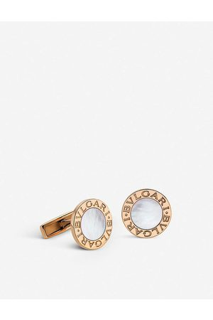 Bvlgari 18Kt -Gold And Mother-Of-Pearl Cufflinks