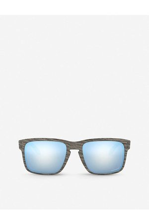 Oakley Mens OO9102-55 Holbrook Woodgrain and Prizm™ Square-frame Sunglasses