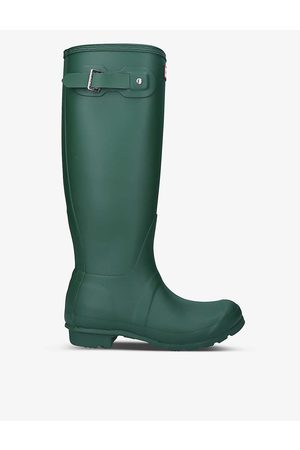 Hunter Womens Original Tall Vulcanised Natural Rubber Wellington Boots EUR 36 / 3 UK Women