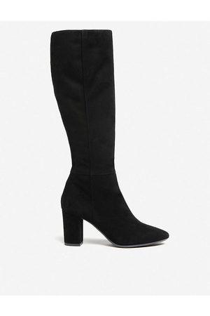 LK Bennett Womens Bla- Sirena Suede Knee-high Boots 35