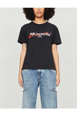 The Kooples Womens Bla01 Logo-print Cotton-jersey T-shirt XS