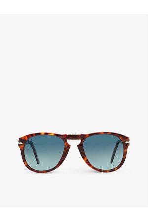 Persol Mens PO0714 Acetate Aviator Sunglasses