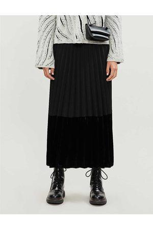 Sandro Womens Pleated Velvet Skirt 6