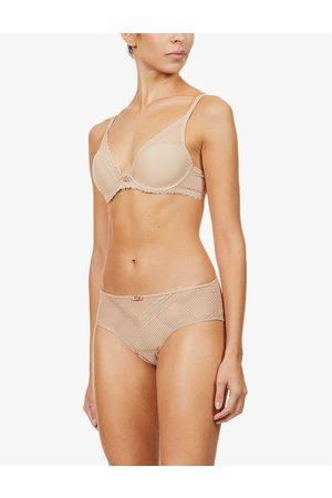 Chantelle Womens Nude (Nude) Parisian Allure Stretch-lace Triangle bra 30D