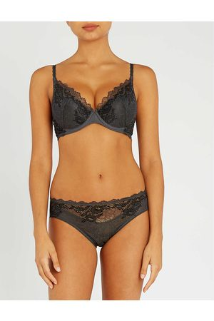 Wacoal Womens Charcoal Lace Perfection Stretch-lace Underwired bra 30B