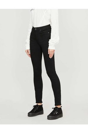 Paige Ladies Cotton Check Denim Shadow Checked Margot Ultra-Skinny High-Rise Jeans