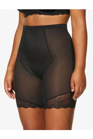 Spanx Womens Very Spotlight on Lace Super High-rise Mesh Mid-thigh Shorts XS