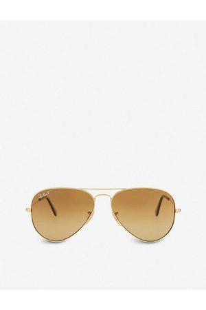 Ray-Ban Mens Shiny Rb3025 Aviator Sunglasses
