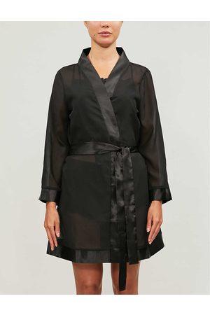 BlueBella Womens Satin-trim Chiffon Kimono S