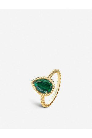 Boucheron Womens Serpent Bohème 18ct -gold and 2ct Malachite Ring 49mm