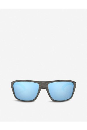 Oakley Mens OO9416-64 Split Shot Woodgrain and Prizm™ Square-frame Sunglasses