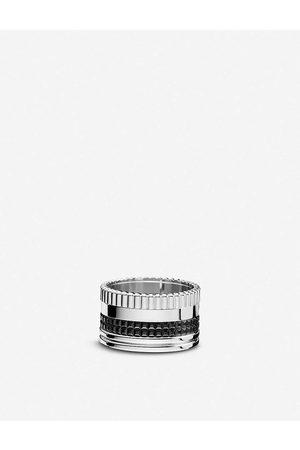 Boucheron Mens Quatre 18ct White-Gold With Pvd Ring