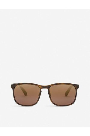 Ray-Ban RB4264 Chromance® Havana square-frame sunglasses