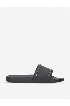VALENTINO GARAVANI Valentino Mens Rockstud Rubber Slider Sandals
