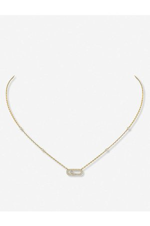 MESSIKA Womens Move Uno 18ct -gold and Pavé Diamond Necklace