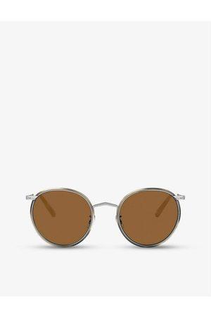 Oliver Peoples Mens OV1269ST Casson Round-frame Titanium Sunglasses