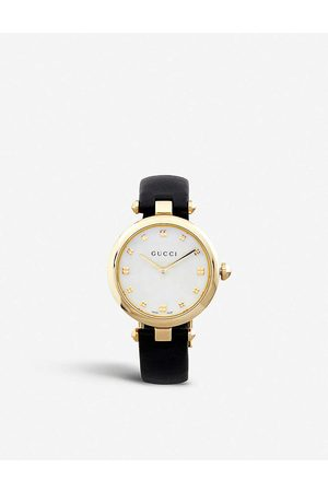 Gucci Women's Mother-Of-Pearl Ya141404 Diamantissima Stainless Steel Watch
